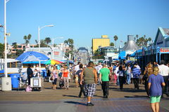 Santa Monica Pier Visitors Royalty Free Stock Image