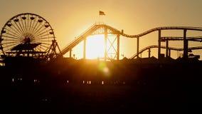 Santa Monica Pierachterbahn timelapse stock video