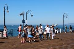 Santa Monica pir Royaltyfria Foton