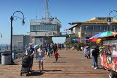 Santa Monica pir Royaltyfri Fotografi