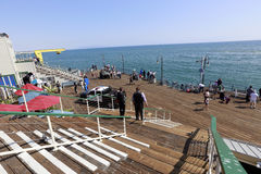 Santa Monica pir Arkivfoton