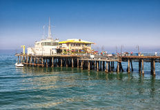 Santa Monica pir i Kalifornien USA royaltyfria foton
