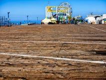 Santa Monica pir i Kalifornien USA royaltyfri fotografi