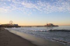 Santa Monica pir Kalifornien Arkivbilder