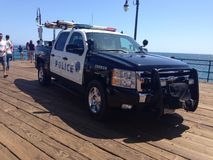 Santa Monica Police car. Santa Monica surfers police car Stock Photo