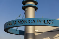 The Santa Monica Police sign, CA on October 03, 2013 Stock Photography