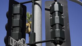 Santa Monica and Rodeo Drive sign stock video footage
