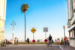 Santa Monica. LOS ANGELES - July 10, 2015: Dead end street in . Millions of people visit  each year Stock Photos