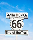 Santa Monica sign Stock Photo