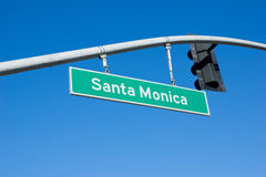 Santa Monica Sign Stock Afbeeldingen