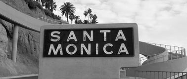 Santa Monica Sign Fotografia de Stock Royalty Free