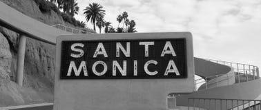 Santa Monica Sign Royalty Free Stock Photography