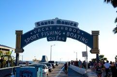 Santa Monica Sign Stock Photos