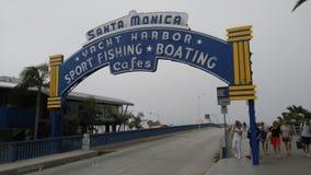 Santa monica sign. Santa monica pier sign, los angeles Royalty Free Stock Photo