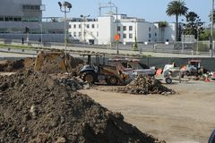 Santa Monica Station construction Stock Photography