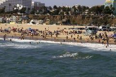 Santa Monica strand Arkivbild