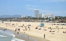 Santa Monica strand Arkivfoton