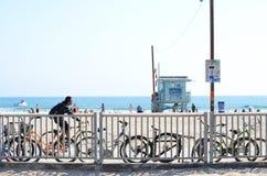 Santa Monica strand Fotografering för Bildbyråer