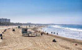 Santa Monica-strand, Los Angeles, Californië Royalty-vrije Stock Afbeeldingen
