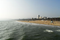 Santa Monica-strand, Los Angeles, Californië Stock Foto