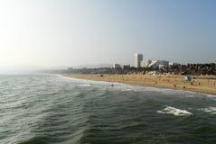 Santa Monica strand, Los Angeles, Kalifornien Arkivfoto