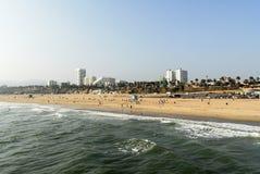 Santa Monica strand, Los Angeles, Kalifornien Arkivbild