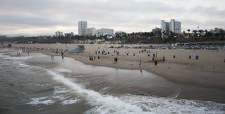 Santa Monica-Strandsonnenuntergang Stockbilder