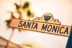 Santa Monica Street Royalty Free Stock Images