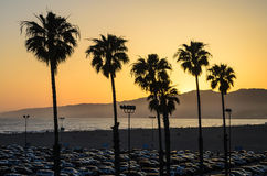 Santa Monica Sunset Stockbild