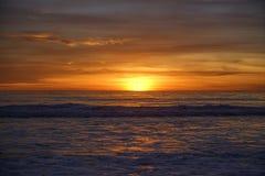Santa Monica Sunset. In California Royalty Free Stock Photo
