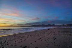 Santa Monica Sunset. In California Royalty Free Stock Image