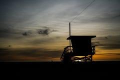Santa Monica Sunset. In California Royalty Free Stock Images
