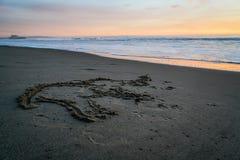 Santa Monica Sunset. In California Stock Image