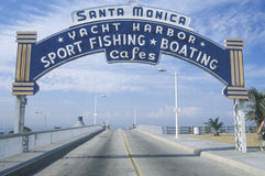 Santa Monica Yacht Harbor sign Royalty Free Stock Photos