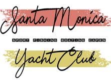 Santa Monica yatch klubu projekt barwiący ilustracji