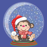 Santa Monkey Royalty Free Stock Image