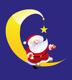 Santa and moon Royalty Free Stock Photo