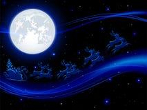 Santa and Moon Royalty Free Stock Photography