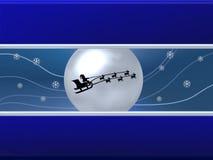 Santa and moon Royalty Free Stock Image