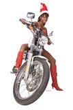 Santa motorbike Royalty Free Stock Image