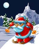 Santa in mountains Royalty Free Stock Photos