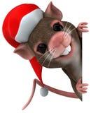 Santa mouse Stock Photo