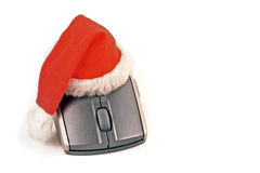 Santa mouse. The image Santa mouse is a great option for your job Royalty Free Stock Images