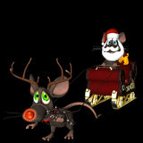 Santa Mouse and Reindeer Mouse Royalty Free Stock Images
