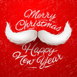 Santa moustache, Merry Christmas card Stock Photos