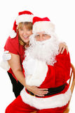 Santa and Mrs Claus in Love Stock Images