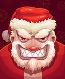 Santa muito má enfrenta ilustração royalty free