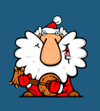 Santa musician Royalty Free Stock Photo