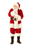 Santa: Myśleć i Pisać na schowku Obraz Royalty Free