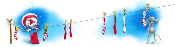 Santa mysz Obrazy Stock